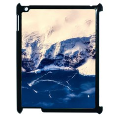 Antarctica Mountains Sunrise Snow Apple iPad 2 Case (Black)
