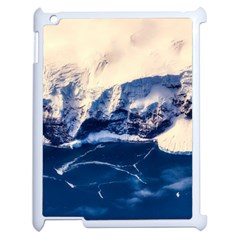 Antarctica Mountains Sunrise Snow Apple iPad 2 Case (White)