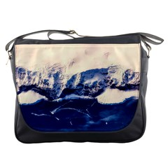 Antarctica Mountains Sunrise Snow Messenger Bags