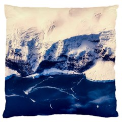Antarctica Mountains Sunrise Snow Large Cushion Case (two Sides)