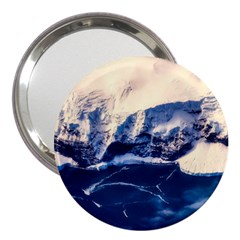 Antarctica Mountains Sunrise Snow 3  Handbag Mirrors