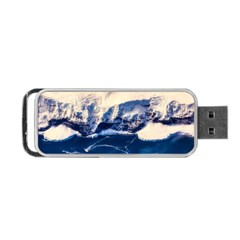 Antarctica Mountains Sunrise Snow Portable USB Flash (Two Sides)