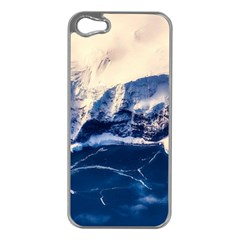Antarctica Mountains Sunrise Snow Apple iPhone 5 Case (Silver)