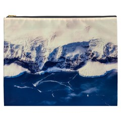 Antarctica Mountains Sunrise Snow Cosmetic Bag (XXXL)