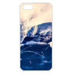 Antarctica Mountains Sunrise Snow Apple iPhone 5 Seamless Case (White)