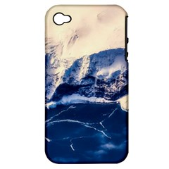 Antarctica Mountains Sunrise Snow Apple Iphone 4/4s Hardshell Case (pc+silicone) by BangZart