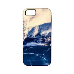 Antarctica Mountains Sunrise Snow Apple iPhone 5 Classic Hardshell Case (PC+Silicone)