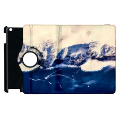Antarctica Mountains Sunrise Snow Apple iPad 3/4 Flip 360 Case