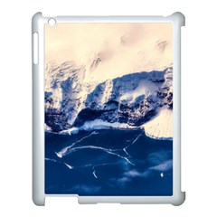 Antarctica Mountains Sunrise Snow Apple iPad 3/4 Case (White)