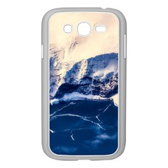 Antarctica Mountains Sunrise Snow Samsung Galaxy Grand DUOS I9082 Case (White)