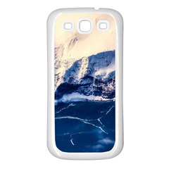 Antarctica Mountains Sunrise Snow Samsung Galaxy S3 Back Case (White)