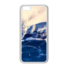 Antarctica Mountains Sunrise Snow Apple iPhone 5C Seamless Case (White)