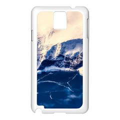 Antarctica Mountains Sunrise Snow Samsung Galaxy Note 3 N9005 Case (White)