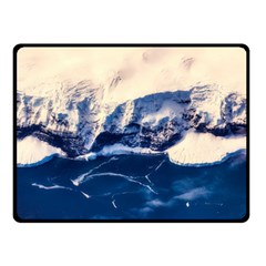 Antarctica Mountains Sunrise Snow Double Sided Fleece Blanket (Small)