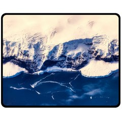 Antarctica Mountains Sunrise Snow Double Sided Fleece Blanket (Medium)