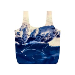 Antarctica Mountains Sunrise Snow Full Print Recycle Bags (S)