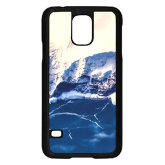 Antarctica Mountains Sunrise Snow Samsung Galaxy S5 Case (Black)