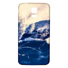 Antarctica Mountains Sunrise Snow Samsung Galaxy S5 Back Case (White)