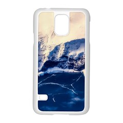 Antarctica Mountains Sunrise Snow Samsung Galaxy S5 Case (White)