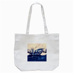 Antarctica Mountains Sunrise Snow Tote Bag (White)