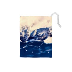 Antarctica Mountains Sunrise Snow Drawstring Pouches (Small)