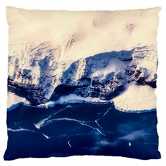 Antarctica Mountains Sunrise Snow Large Flano Cushion Case (Two Sides)