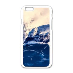 Antarctica Mountains Sunrise Snow Apple iPhone 6/6S White Enamel Case