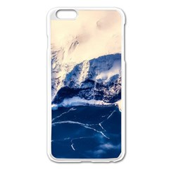 Antarctica Mountains Sunrise Snow Apple iPhone 6 Plus/6S Plus Enamel White Case