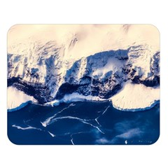 Antarctica Mountains Sunrise Snow Double Sided Flano Blanket (Large)