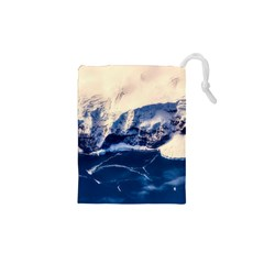 Antarctica Mountains Sunrise Snow Drawstring Pouches (XS)
