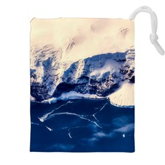 Antarctica Mountains Sunrise Snow Drawstring Pouches (XXL)