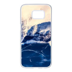 Antarctica Mountains Sunrise Snow Samsung Galaxy S7 edge White Seamless Case
