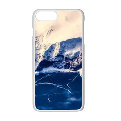 Antarctica Mountains Sunrise Snow Apple iPhone 7 Plus Seamless Case (White)
