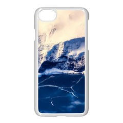 Antarctica Mountains Sunrise Snow Apple iPhone 8 Seamless Case (White)
