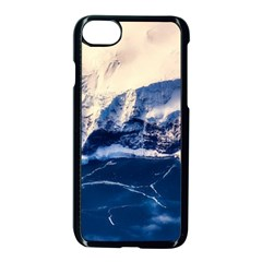 Antarctica Mountains Sunrise Snow Apple iPhone 8 Seamless Case (Black)