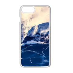 Antarctica Mountains Sunrise Snow Apple iPhone 8 Plus Seamless Case (White)