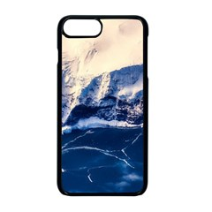 Antarctica Mountains Sunrise Snow Apple iPhone 8 Plus Seamless Case (Black)