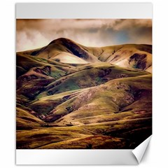 Iceland Mountains Sky Clouds Canvas 8  X 10