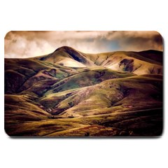 Iceland Mountains Sky Clouds Large Doormat