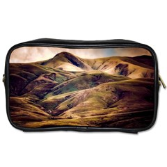 Iceland Mountains Sky Clouds Toiletries Bags
