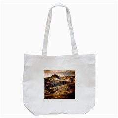 Iceland Mountains Sky Clouds Tote Bag (white)