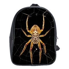 Insect Macro Spider Colombia School Bag (large) by BangZart