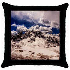 Italy Landscape Mountains Winter Throw Pillow Case (black)