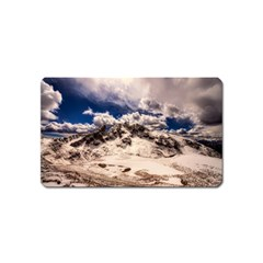 Italy Landscape Mountains Winter Magnet (name Card)