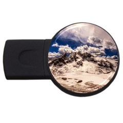 Italy Landscape Mountains Winter Usb Flash Drive Round (4 Gb)