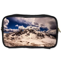 Italy Landscape Mountains Winter Toiletries Bags 2 Side