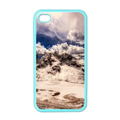 Italy Landscape Mountains Winter Apple Iphone 4 Case (color)