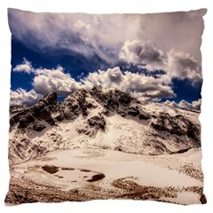 Italy Landscape Mountains Winter Large Cushion Case (two Sides)