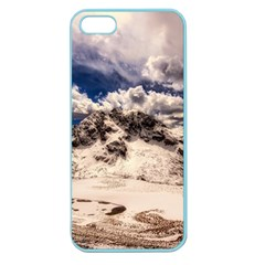 Italy Landscape Mountains Winter Apple Seamless Iphone 5 Case (color)