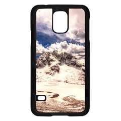 Italy Landscape Mountains Winter Samsung Galaxy S5 Case (black)